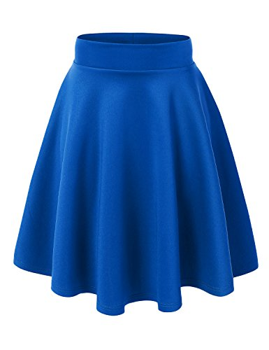MBJ WB829 Womens Flirty Flare Skirt S ROYAL_BRITE