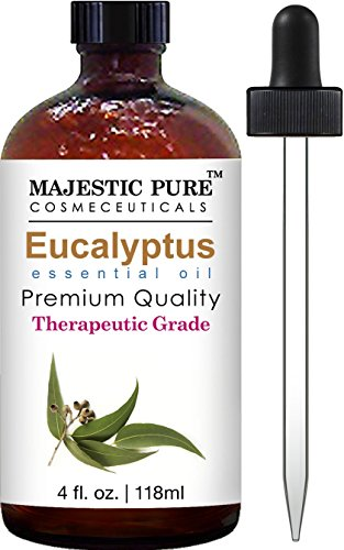 Majestic Pure Eucalyptus Essential Oil, 4 Fluid Ounce, Therapeutic