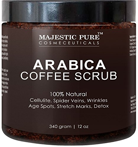 Majestic Pure Arabica Coffee Scrub, 12 Oz - Natural