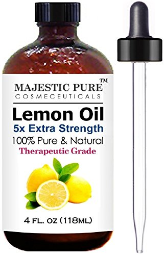 Majestic Pure Lemon Essential Oil for Aromatherapy, 5x Extra