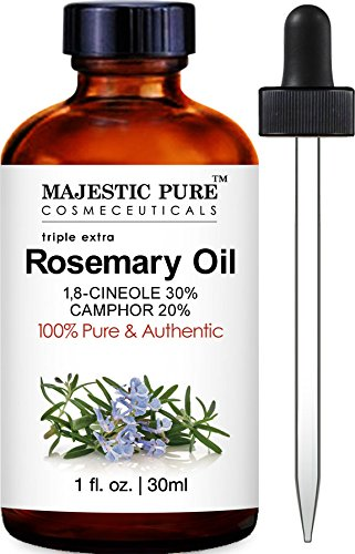 Majestic Pure Rosemary Essential Oil, Highest Quality with 30%