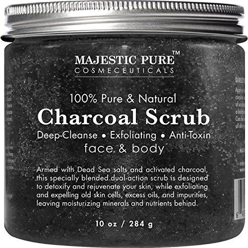 Activated Charcoal Body Scrub and Facial Scrub from Majestic