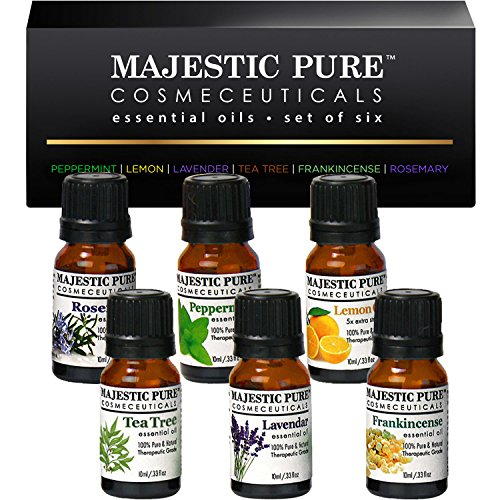 Essential Oils Set of Premium 6 from Majestic Pure