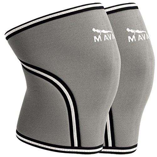 Mava Knee Sleeves Recommended for Powerlifting, Cross Training, Gym