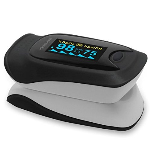 MeasuPro Instant Read Fingertip Digital Pulse Oximeter, FDA Approved