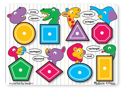 $2.99 Melissa  Doug Shapes Peg Puzzle