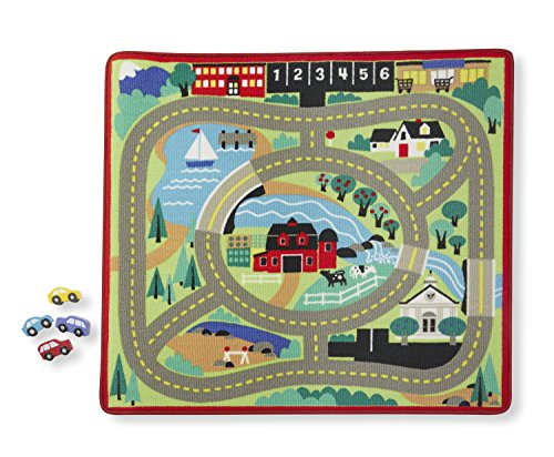Melissa  Doug Round the Town Road Rug and