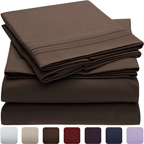 Mellanni Bed Sheet Set – Brushed Microfiber 1800 Bedding