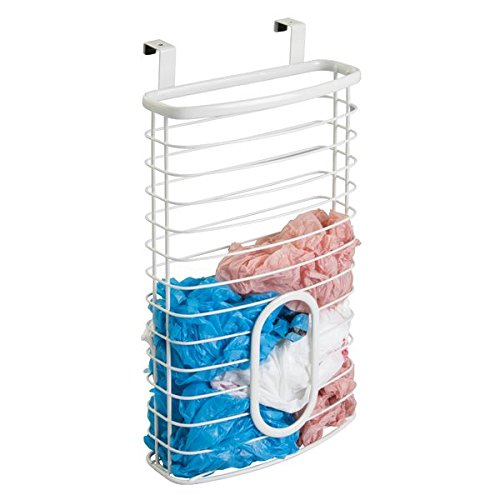 mDesign Over the Cabinet Kitchen Storage Holder for Plastic