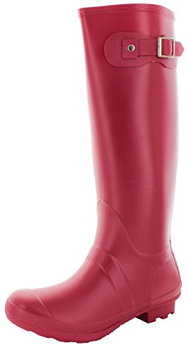 Moda Essentials Padinton Women's Rubber Rain Boots Red Size