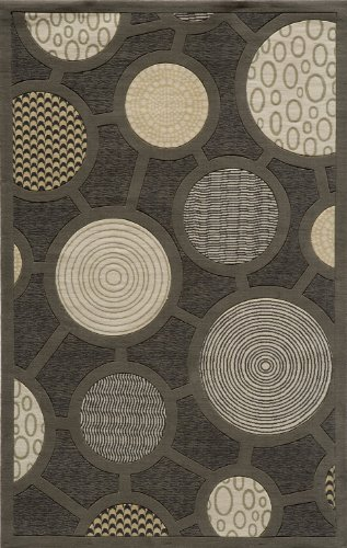 Momeni Rugs ELEMTEL-31CHR5080 Elements Collection, 100% New Zealand Wool