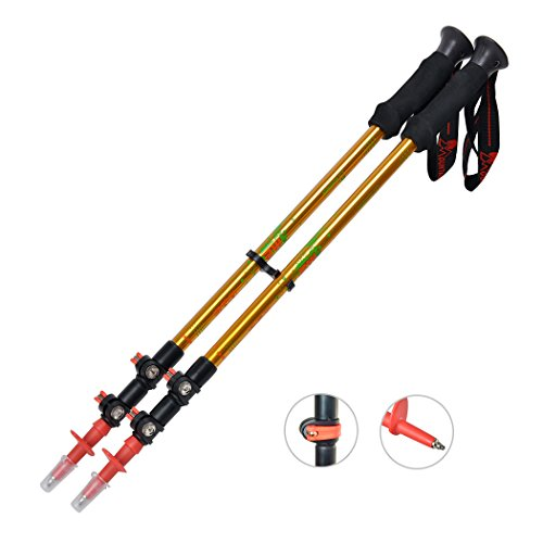 Mountaintop [2-Pack] Anti Shock  Retractable Hiking / Walking