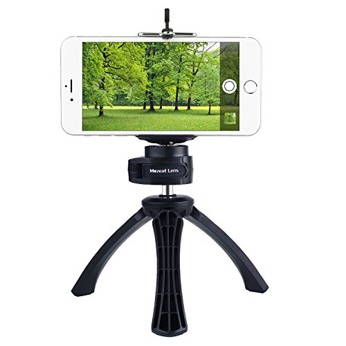 Tripod with Mount for iPhone, Samsung, Android Cellphone, Mini
