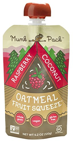 Munk Pack Oatmeal Fruit Squeeze - Raspberry Coconut, Ready-to-Eat