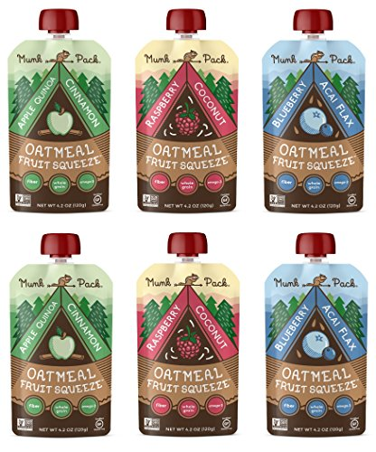 Munk Pack Oatmeal Fruit Squeeze - Variety Pack, Ready-to-Eat