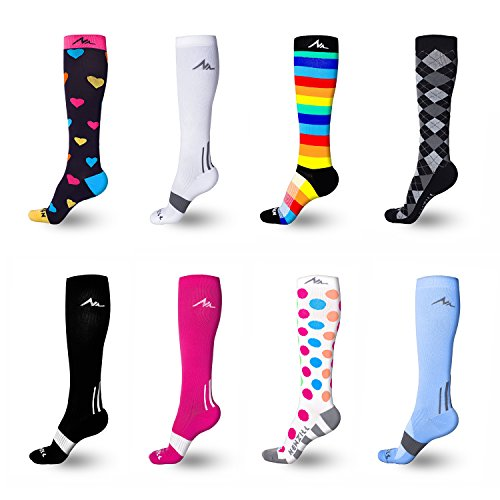 NEWZILL Men  Women's Compression Socks for Athletic, Nurses