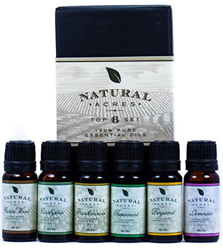 Essential Oils 6 Pack by Natural Acres 100 Pct