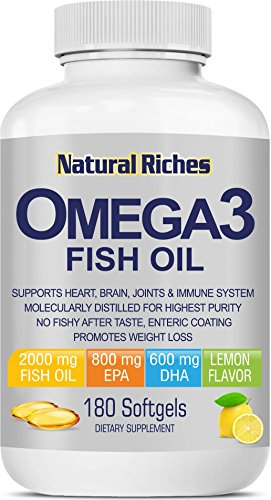 Fish Oil Omega 3 Supplement from Natural Riches, 180
