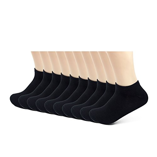 Newin Men's 10-Pack Comfort Low Cut Cotton Socks for