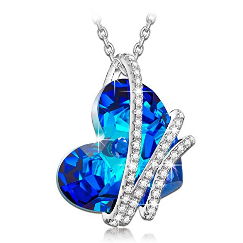 NinaQueen *Heart Of the Ocean* 925 Sterling Silver Pendant