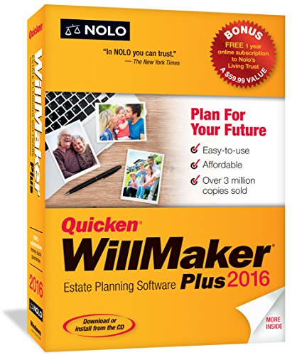 $33.99 Quicken WillMaker Plus 2016