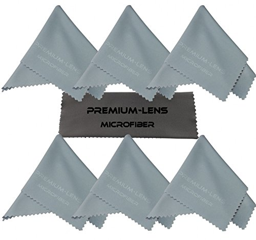 Premium-Lens® Microfiber Cleaning Cloth (7-Pack Sky Blue)- Superior Cleaning