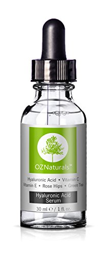 OZNaturals Anti-Aging Hyaluronic Acid Serum with Vitamin C, 1