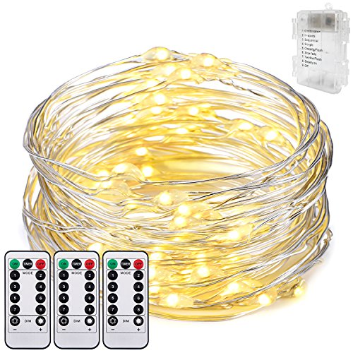 Dimmable LED String Lights,Oak Leaf 19.7ft 60 LEDs Waterproof