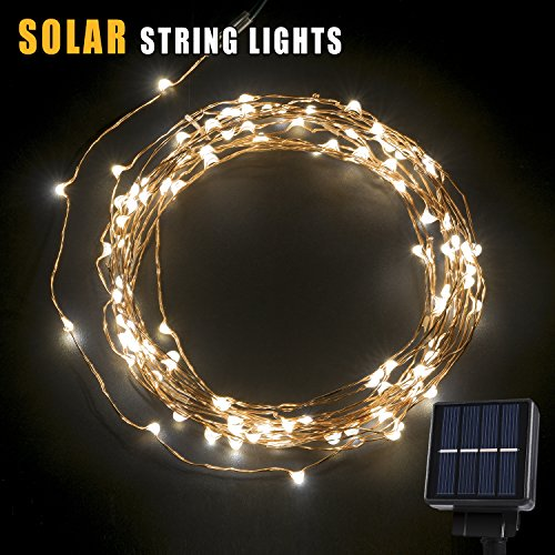 Solar String Lights, Oak Leaf 120 LEDs Outdoor Solar