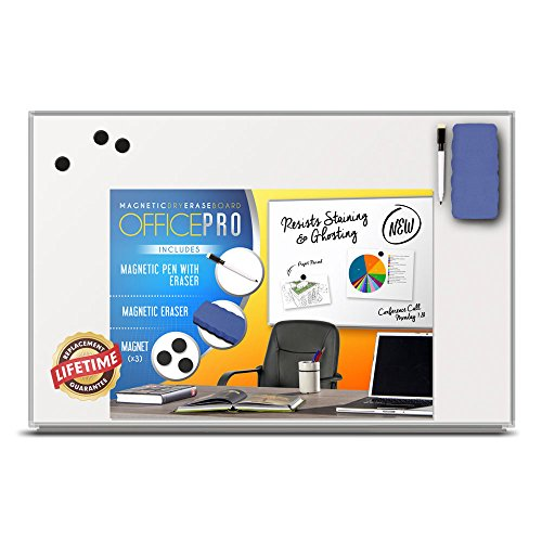 OfficePro Ultra-Slim, Lightweight Magnetic Dry Erase Board  Accessories