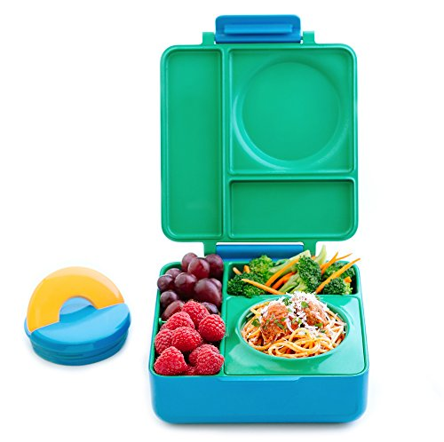 OmieBox Bento Lunch Box With Insulated Thermos For Kids