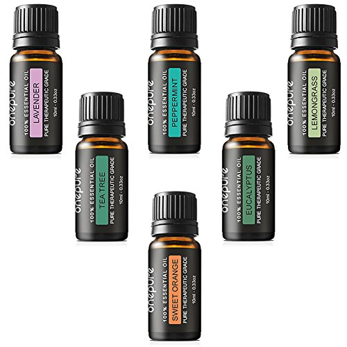 Onepure Aromatherapy Essential Oils Gift Set, 6 Bottles/ 10ml
