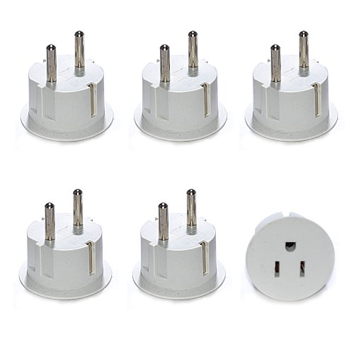 OREI American USA To European Schuko Germany Plug Adapters