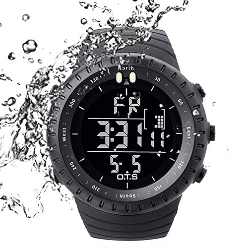 PALADA Men's T7005G Outdoor Waterproof Sports Quartz Digital Wrist