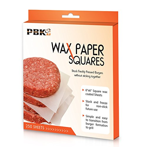 Hamburger Patty Paper Sheets, Wax Paper Squares 250 pcs