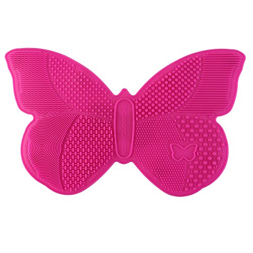 RUIMIO Makeup Brush Cleaning Mat Butterfly Shape (Silica)