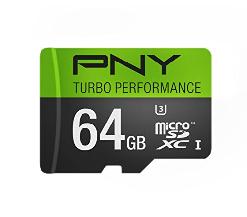 $24.99 PNY U3 Turbo Performance 64GB High Speed MicroSDXC Class
