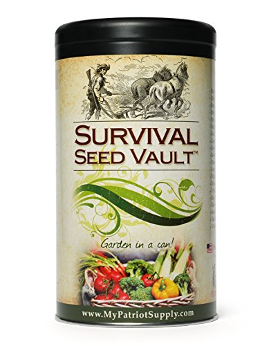 $23.93 Survival Seed Vault - Heirloom Emergency Survival Seeds -