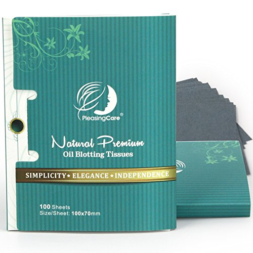 Premium Facial Oil Blotting Paper, 200 Counts - Natural