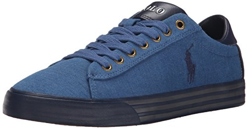 Polo Ralph Lauren Men's Harvey Fashion Sneaker, Light Indigo