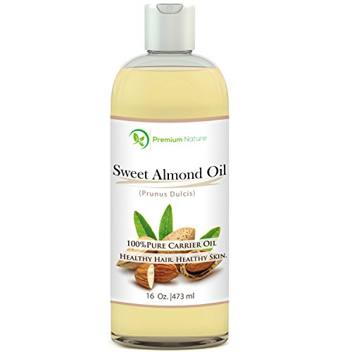 Sweet Almond Oil 16 oz - Carrier Oil, Cleansing