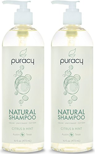 Puracy Natural Daily Shampoo, Sulfate Free Cleanser, Developed by