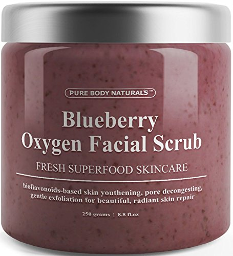 Blueberry Oxygen Facial Scrub - Loaded with Antioxidants for
