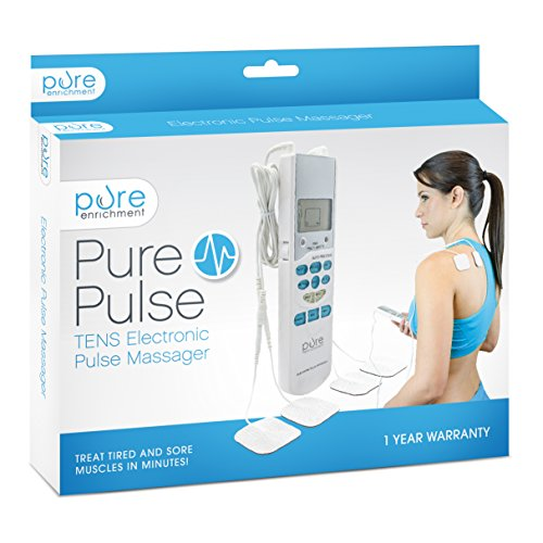 PurePulse Electronic Pulse Massager – Portable, Handheld Tens Unit