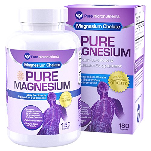 Pure Micronutrients Pure Magnesium Glycinate (Albion Chelated) 200mg Supplement