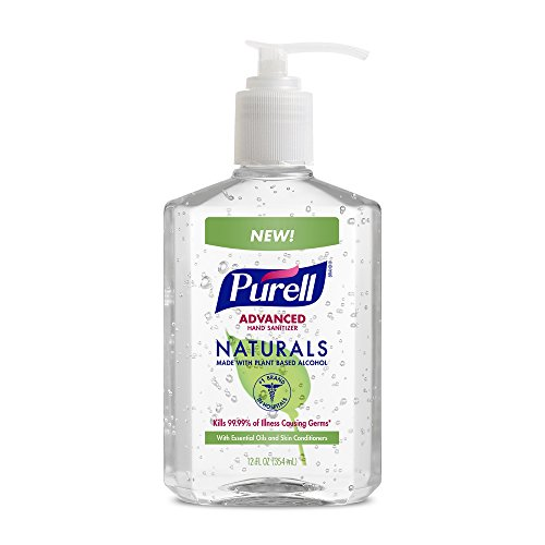 PURELL Advanced Hand Sanitizer NATURALS 12oz Pump Bottle (Pack