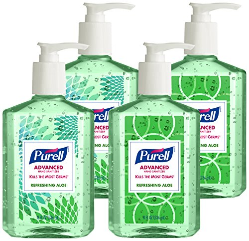 Purell 9674-06-ECDECO Advanced  Design Series Hand Sanitizer, 8