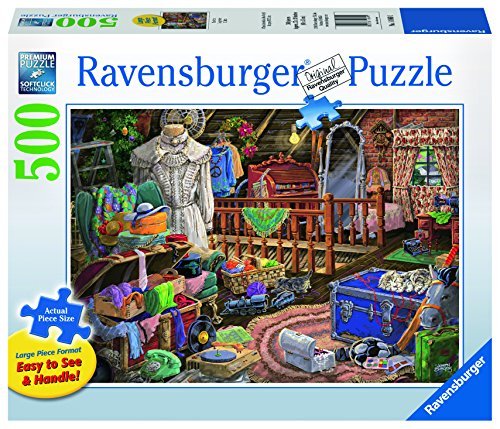 $17.95 Ravensburger The Attic Large Format Jigsaw Puzzle (500 Piece)