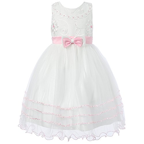 $23.99 Richie House Girl's Princess Dress with Layered Bottom RH1390-C-3/4