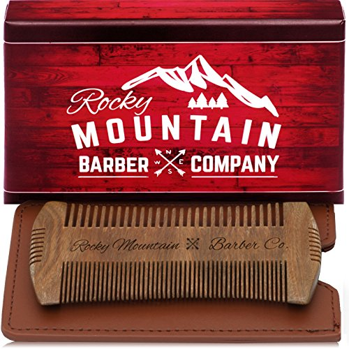 Beard Comb – Sandalwood Natural Hatchet Style for Hair